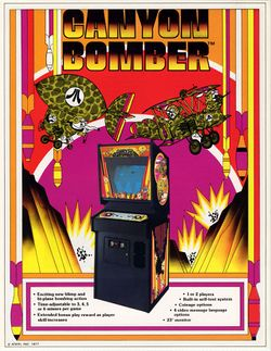Box artwork for Canyon Bomber.
