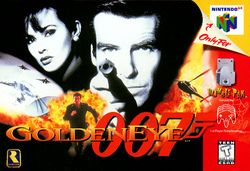 Box artwork for GoldenEye 007.