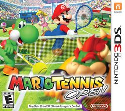 Box artwork for Mario Tennis Open.