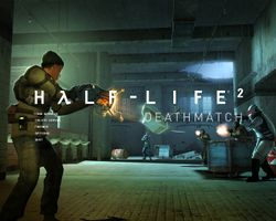 Box artwork for Half-Life 2: Deathmatch.