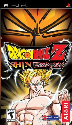 Box artwork for Dragon Ball Z: Shin Budokai.