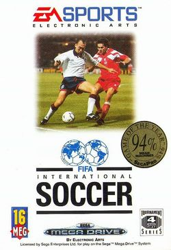 Box artwork for FIFA International Soccer.