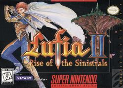 Box artwork for Lufia II: Rise of the Sinistrals.
