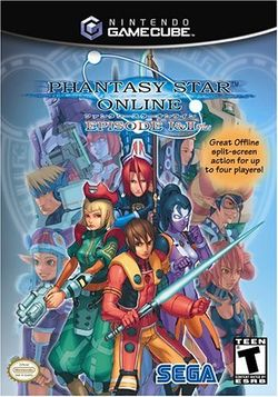 Box artwork for Phantasy Star Online Episode I & II.