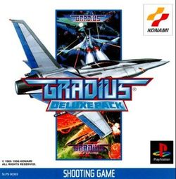 Box artwork for Gradius Deluxe Pack.