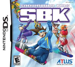 Box artwork for SBK: Snowboard Kids.