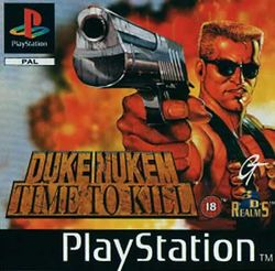 Box artwork for Duke Nukem: Time To Kill.