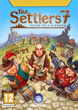 Box artwork for The Settlers 7: Paths to a Kingdom.