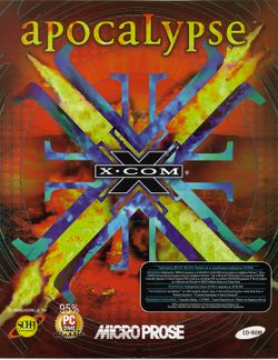 Box artwork for X-COM: Apocalypse.