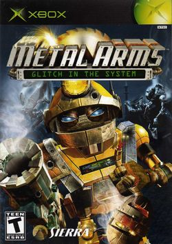Box artwork for Metal Arms: Glitch in the System.