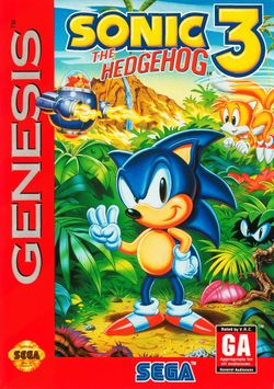 Box artwork for Sonic the Hedgehog 3.