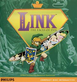 Box artwork for Link: The Faces of Evil.