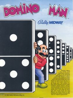 Box artwork for Domino Man.