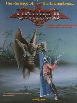 Box artwork for Ultima II: The Revenge of the Enchantress.