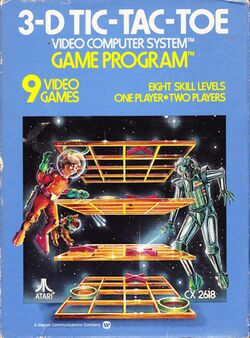 Box artwork for 3-D Tic-Tac-Toe.