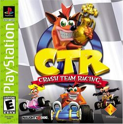Box artwork for Crash Team Racing.