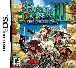 Box artwork for Etrian Odyssey III: The Drowned City.