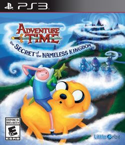 Box artwork for Adventure Time: The Secret of the Nameless Kingdom.