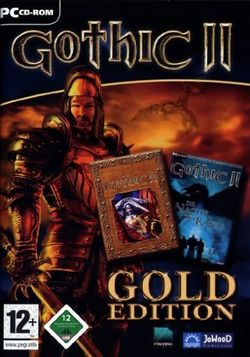 Box artwork for Gothic II Gold Edition.
