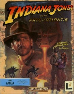 Box artwork for Indiana Jones and the Fate of Atlantis.