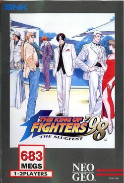 Box artwork for The King of Fighters '98: The Slugfest.