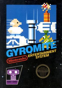 Box artwork for Gyromite.