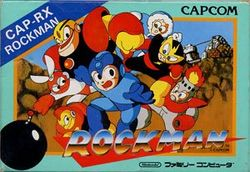 Box artwork for Mega Man.