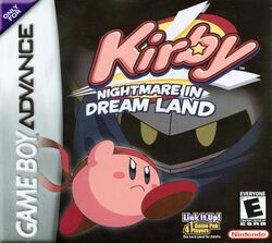 Box artwork for Kirby: Nightmare in Dream Land.