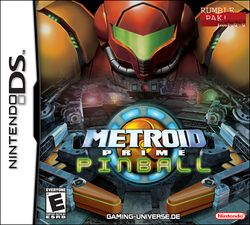 Box artwork for Metroid Prime Pinball.