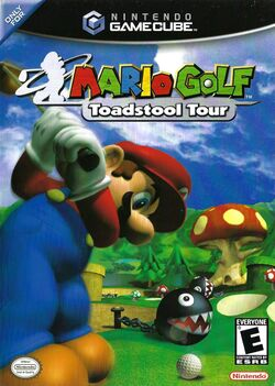 Box artwork for Mario Golf: Toadstool Tour.