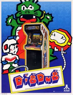 Box artwork for Dig Dug.