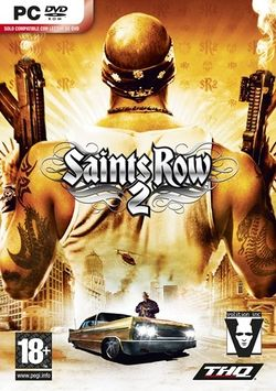 Box artwork for Saints Row 2.