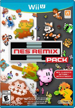 Box artwork for NES Remix Pack.