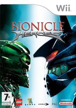 Box artwork for BIONICLE Heroes.