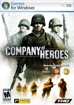 Box artwork for Company of Heroes.
