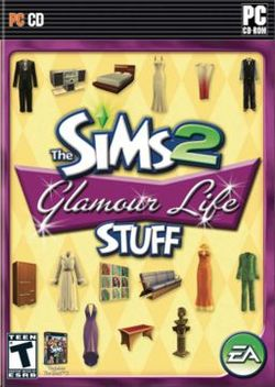 Box artwork for The Sims 2: Glamour Life Stuff.