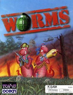 Box artwork for Worms.