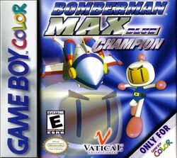 Box artwork for Bomberman Max: Blue Champion.