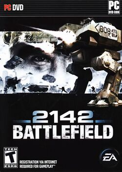 Box artwork for Battlefield 2142.