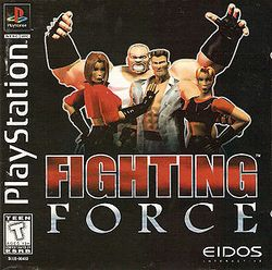 Box artwork for Fighting Force.