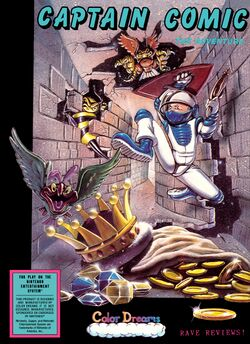 Box artwork for Captain Comic.