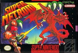 Box artwork for Super Metroid.