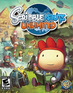 Box artwork for Scribblenauts Unlimited.