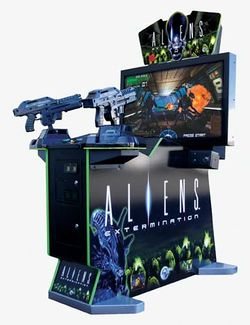 Box artwork for Aliens: Extermination.