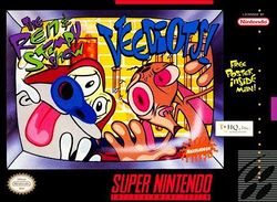 Box artwork for The Ren & Stimpy Show: Veediots.