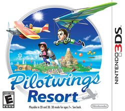 Box artwork for Pilotwings Resort.