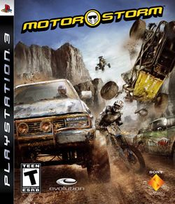 Box artwork for MotorStorm.
