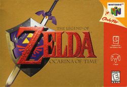 Box artwork for The Legend of Zelda: Ocarina of Time.