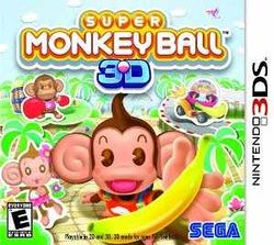 Box artwork for Super Monkey Ball 3D.