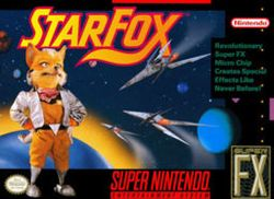 Box artwork for Star Fox.